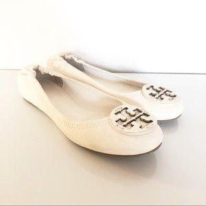 Tory Burch Reva Ballet Flats Off White Ivory 6